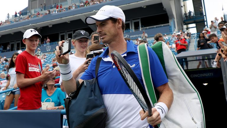 Andy Murray will be in action at the Winston-Salem Open this week