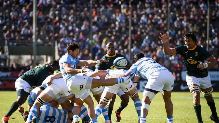 Argentina were put under pressure at the scrum by South Africa