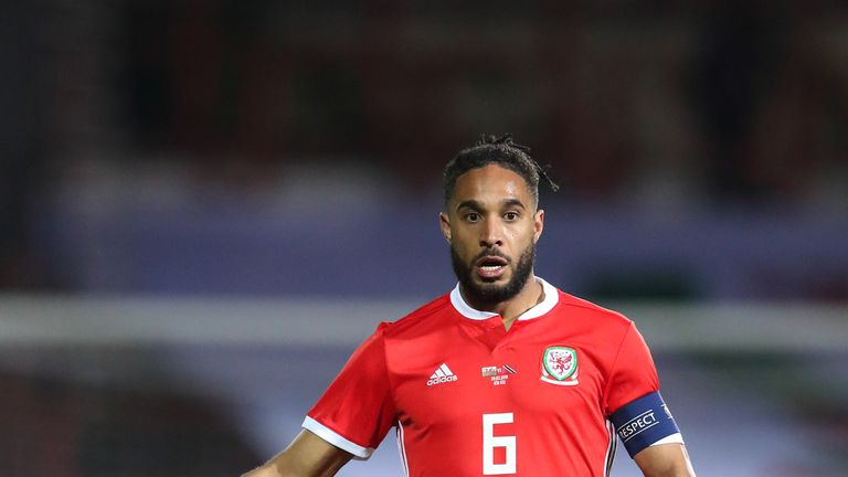WREXHAM, WALES - MARCH 20: Ashley Williams of Wales during the International Friendly between Wales and Trinidad and Tobago at Racecourse Ground on March 20, 2019 in Wrexham, Wales. (Photo by James Williamson - AMA/Getty Images)