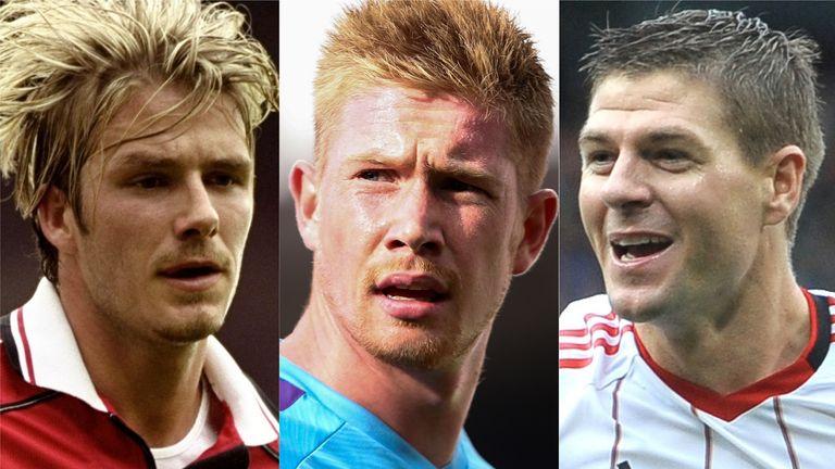 Beckham, De Bruyne, Gerrard