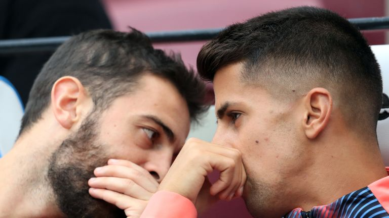 Bernardo Silva and Joao Cancelo were left on the bench at West Ham
