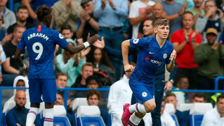 Billy Gilmour, 18, made his Chelsea debut