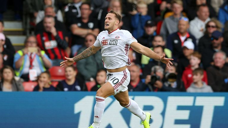 Billy Sharp scored his first Premier League goal at the age of 33