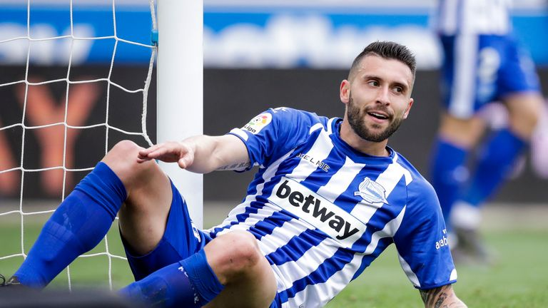 He scored just four goals during a season-long loan with Alaves in La Liga