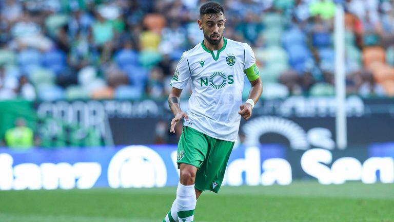 Bruno Fernandes in action for Sporting Lisbon