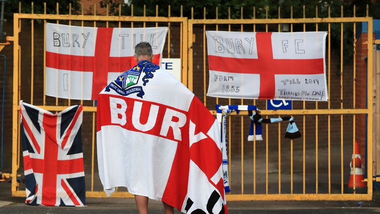 Bury's bid to enter Sky Bet League Two for the 2020-21 season was rejected