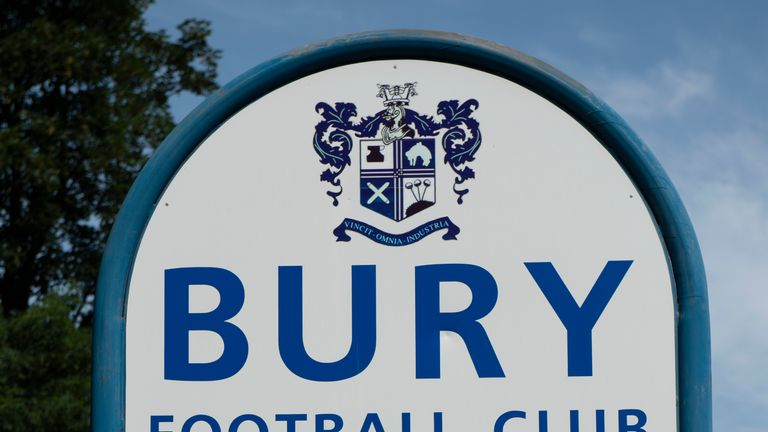 BURY, ENGLAND - JULY 30: A quiet Gigg Lane, home of Bury FC, following the postponement of their opening match against MK Dons after the club failed to satisfy the EFL that they have the necessary finances in place on July 30, 2019 in Bury, United Kingdom. (Photo by Visionhaus/Getty Images)