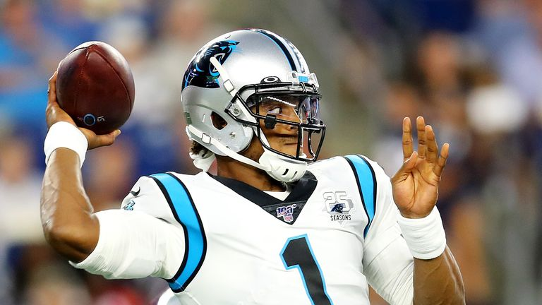 Cam Newton will be unavailable for Sunday's game