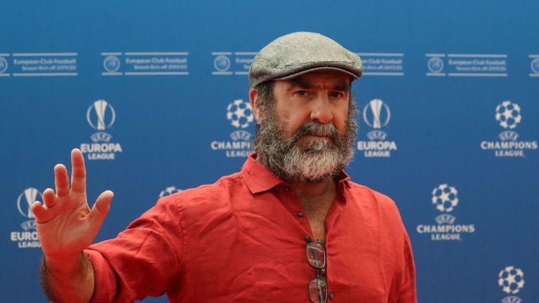 Eric Cantona arrives in Monaco ahead of the Champions League draw