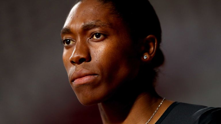 Caster Semenya was not allowed to defend her 800m title at the World Championships in September