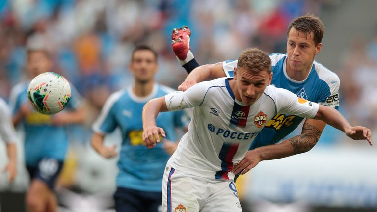 CSKA Moscow have rejected Crystal Palace's £14m bid for Fedor Chalov.