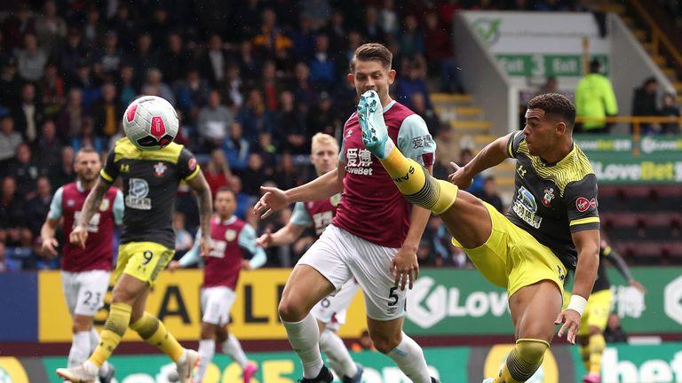 Che Adams has an early chance to put Southampton ahead