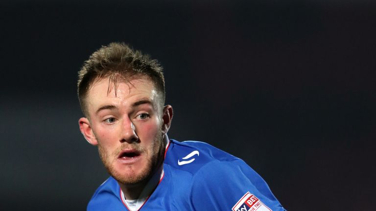 DONCASTER, ENGLAND - JANUARY 05: Matthew Clarke of Portsmouth during the Sky Bet League Two match between Doncaster Rovers and Portsmouth at Keepmoat Stadium on January 5, 2017 in Doncaster, England. (Photo by Matthew Ashton - AMA/Getty Images)