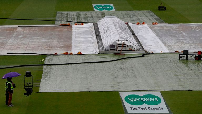 Rain led to a complete washout on day one at Lord's