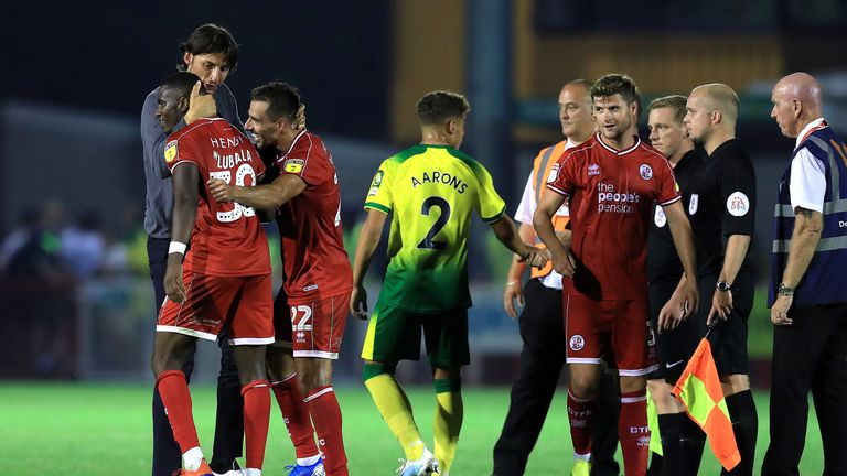 Norwich crashed out of the League Cup to League Two side Crawley
