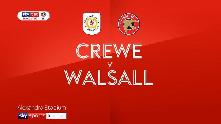crewe v walsall