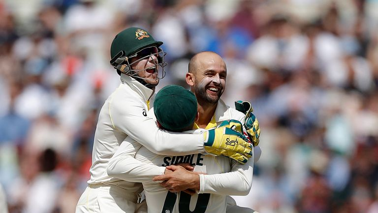 Nathan Lyon took six wickets in England's second innings at Edgbaston