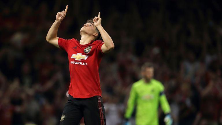 Daniel James celebrates converting the winning penalty at the Principality Stadium