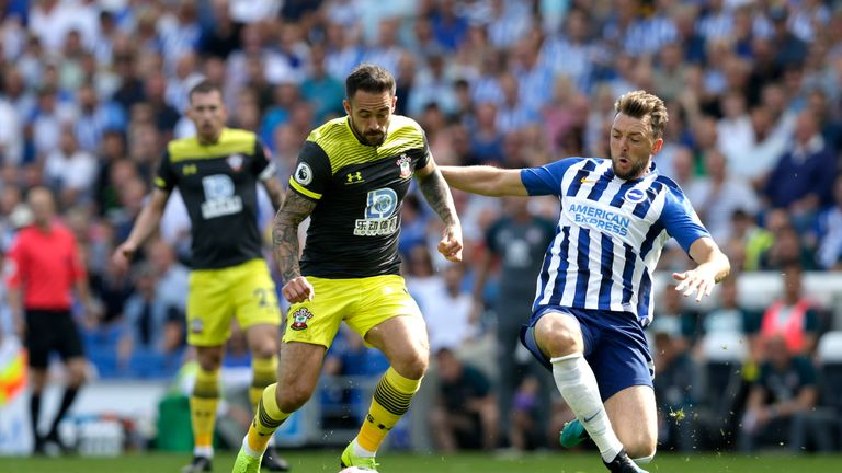 Danny Ings battles for possession with Dale Stephens