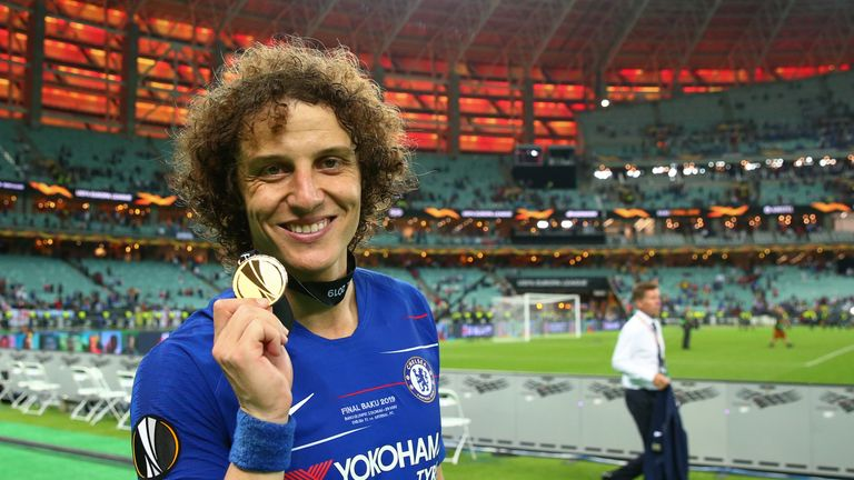 Luiz's final game for Chelsea was the 4-1 win over Arsenal in the 2019 Europa League final