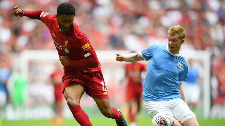 Liverpool and Manchester City last met in the Community Shield in August