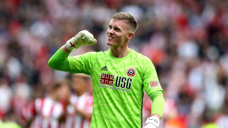SHEFFIELD, ENGLAND - AUGUST 18: X during the Premier League match between Sheffield United and Crystal Palace at Bramall Lane on August 18, 2019 in Sheffield, United Kingdom. (Photo by Jan Kruger/Getty Images)