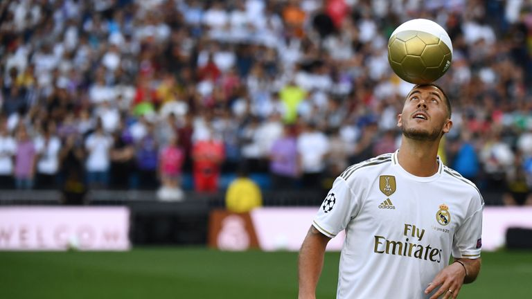 Hazard moved to Real Madrid from Chelsea in the summer for £88m