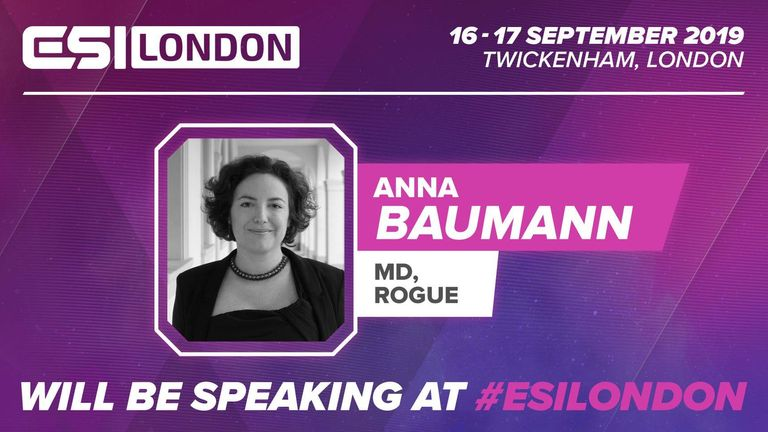 Rogue's Anna Baumann will be a speaker at ESI London (Credit: ESI)