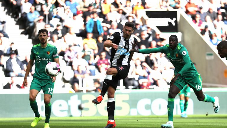 Fabian Schar equalises for Newcastle United