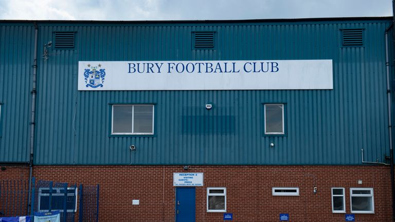 It is the fourth game this season that Bury have had suspended by the EFL