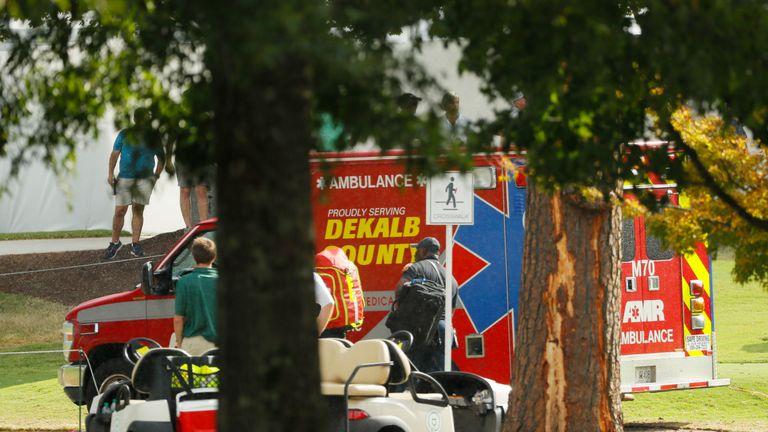 Medical teams attended to injured spectators after a lightning strike at East Lake