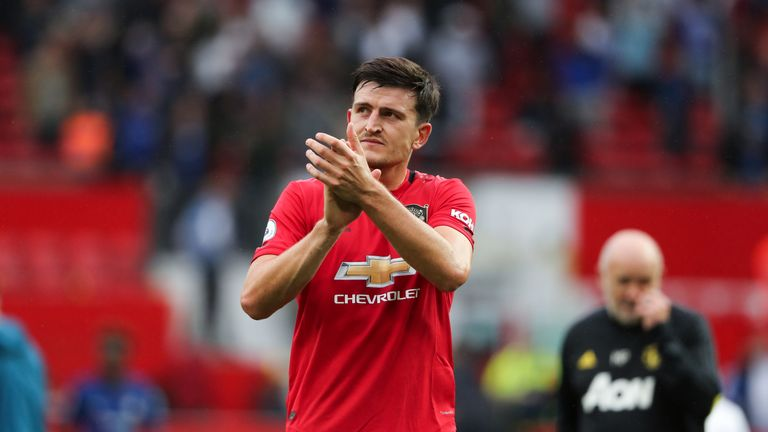 Harry Maguire marked his Manchester United debut with a man of the match showing