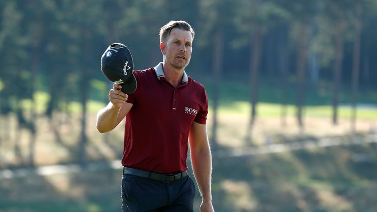 Henrik Stenson made a hole-in-one at the sixth, but he didn't know his ball had dropped