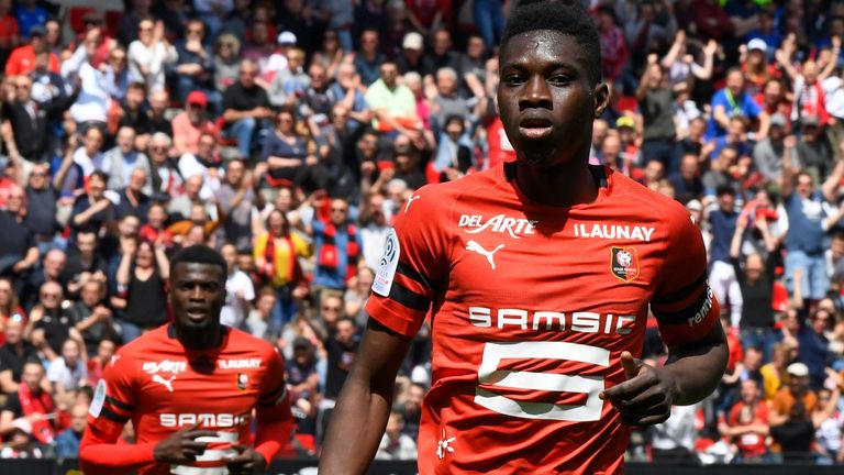 Ismaila Sarr signs for Watford for a club-record fee