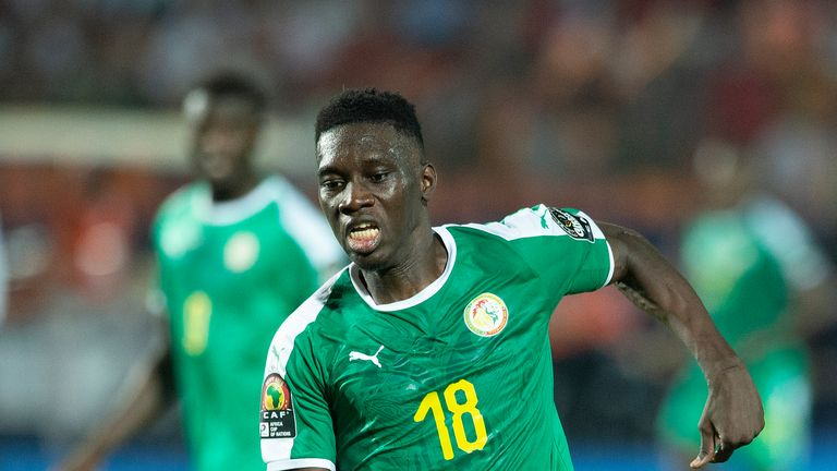 Sarr played for Senegal in their 2019 Africa Cup of Nations final defeat to Algeria
