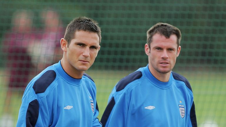 Frank Lampard with Carragher during their England days