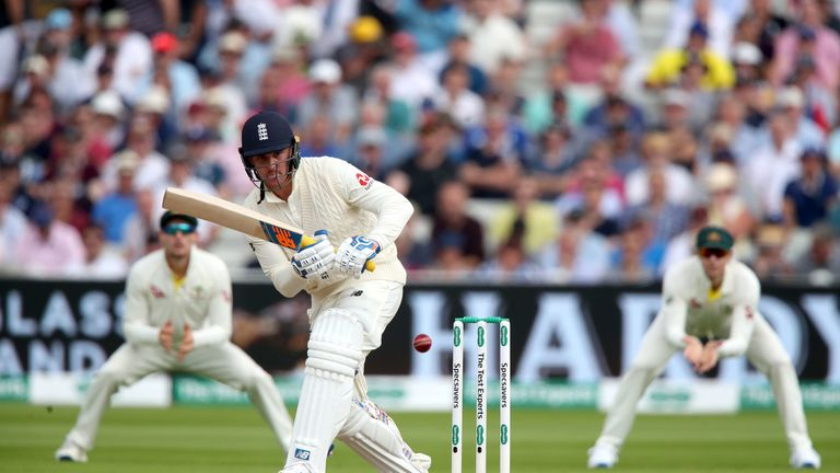 Jason Roy in action during day two of the Ashes Test match at Edgbaston, Birmingham.