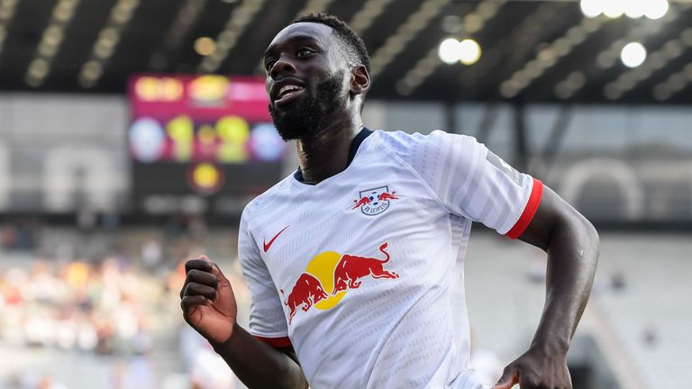 Jean-Kevin Augustin scored three times for for RB Leipzig in 17 Bundesliga appearances last season