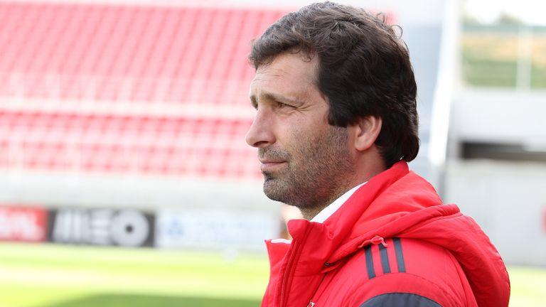Benfica academy coach Joao Tralhao