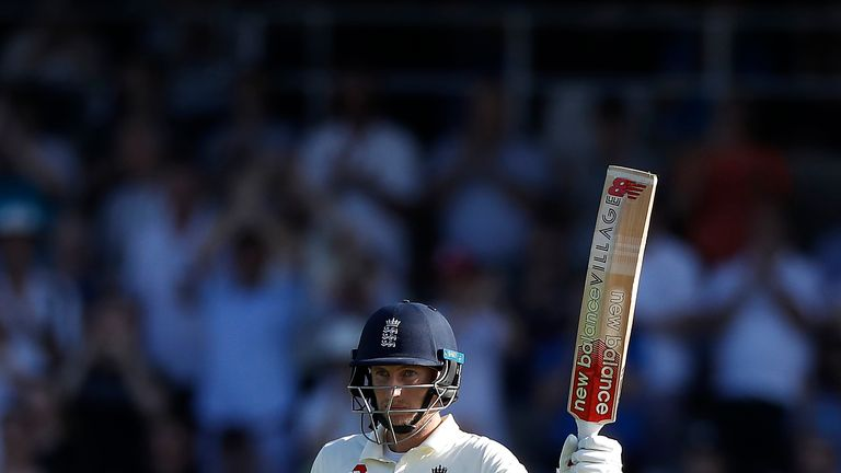 Joe Root acknowledges the applause for his fifty on day three of the third Ashes Test
