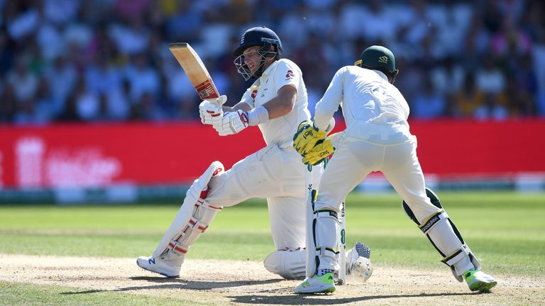 Joe Root batting on day three of the 3rd Ashes Test
