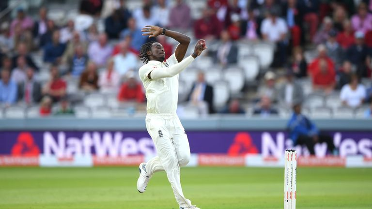 Jofra Archer finished with 0-10 from his six overs on day two