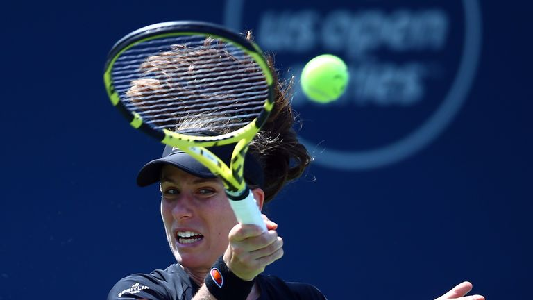 Johanna Konta suffers Rogers Cup first-round defeat