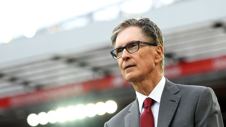 John W. Henry picture at Anfield ahead of Liverpool vs Norwich City