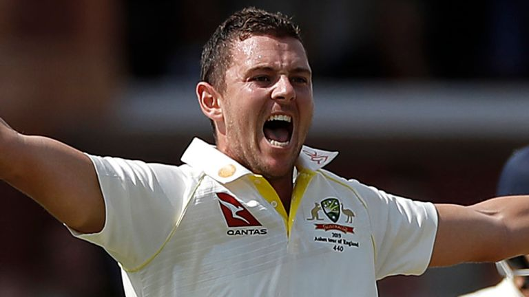 Josh Hazlewood took two wickets in a brilliant opening spell