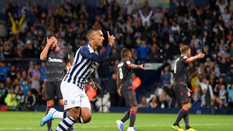 Kenneth Zohore equalised with a late penalty for West Brom