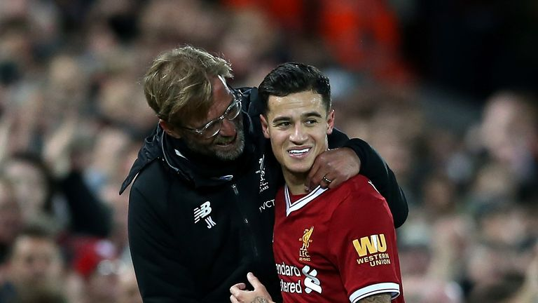 Jurgen Klopp admits he did not use Philippe Coutinho in his preferred position behind the striker as much as he could have.