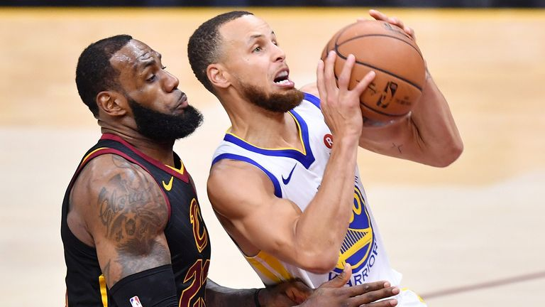 LeBron James and Stephen Curry faced each other in the 2018 NBA Finals
