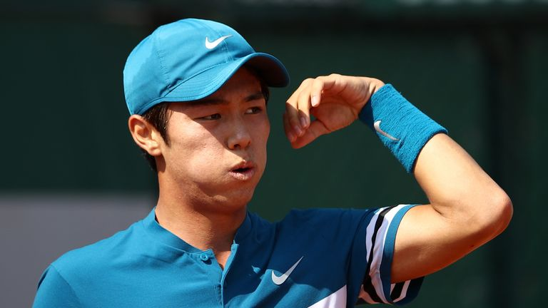 Lee Duck-hee of South Korea made history at the Winston-Salem Open
