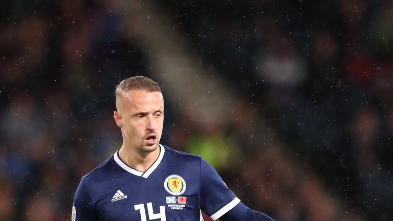 GLASGOW, SCOTLAND - SEPTEMBER 10: Leigh Griffiths of Scotland during the UEFA Nations League C group one match between Scotland and Albania at Hampden Park on September 10, 2018 in Glasgow, United Kingdom. (Photo by James Williamson - AMA/Getty Images)